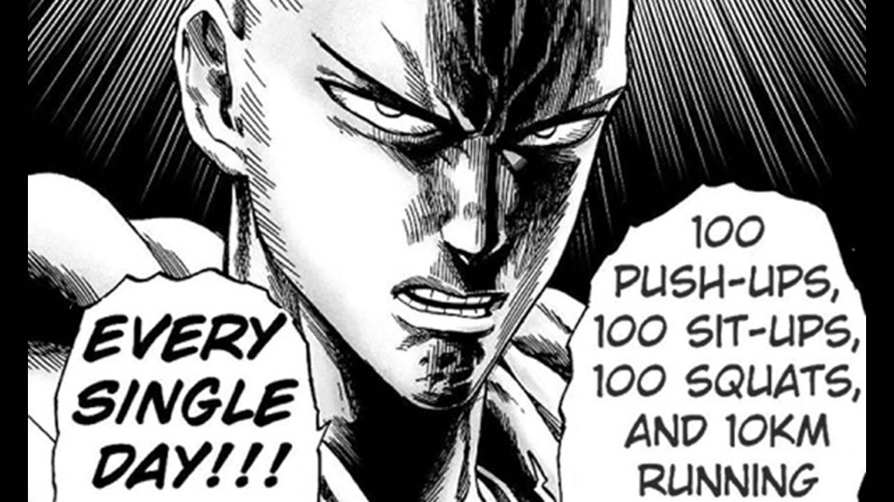 Saitama Workout Challenge - One Punch Man Is A Super Saiyan - YouTube