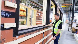 Framing in a Factory with Super Insulated Walls - Bensonwood Homes Tour