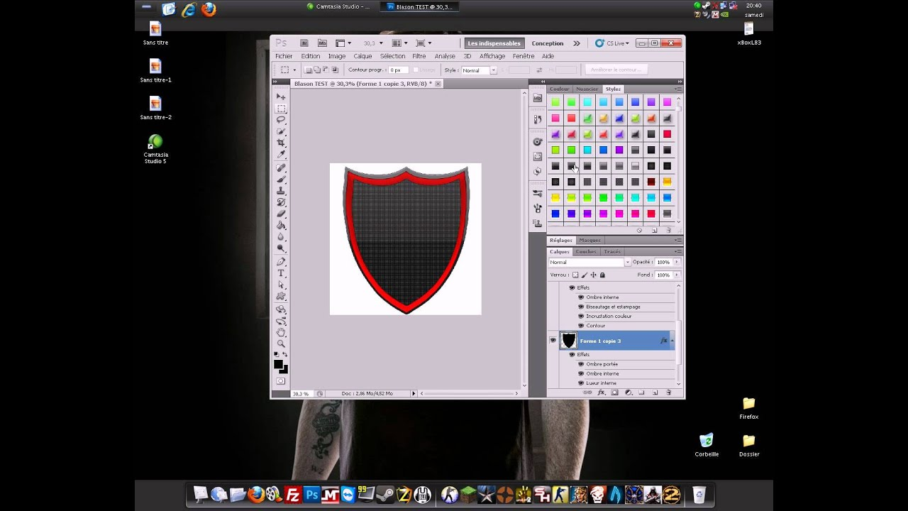 forme blason photoshop cs5