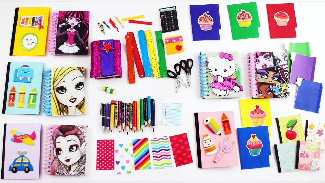 Tiles escolares en miniatura para mu ecas cuadernos for Lista de utiles de cocina