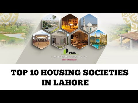 List of Top 10 Ten Housing Societies in Lahore Presented by PMS Property Management Services