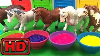 Kid -Kids -Learn COLORS With Schleich Horse Toys/Face Painting Animals/Learn ABC Alphabets And Farm