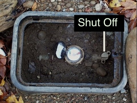 How to turn your water off outside your house