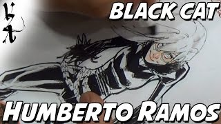 Humberto Ramos drawing Black Cat