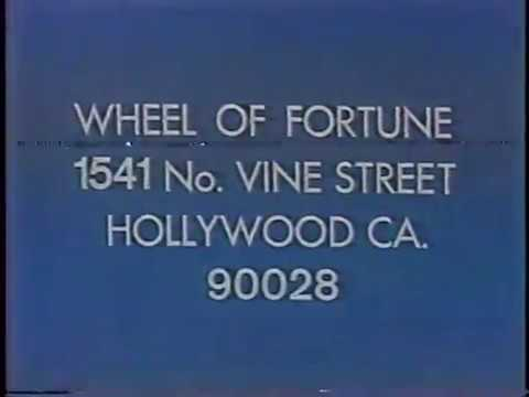 Wheel of Fortune contestant & ticket plug, 1980