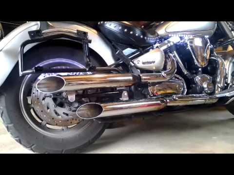 yamaha road star slip on exhaust
