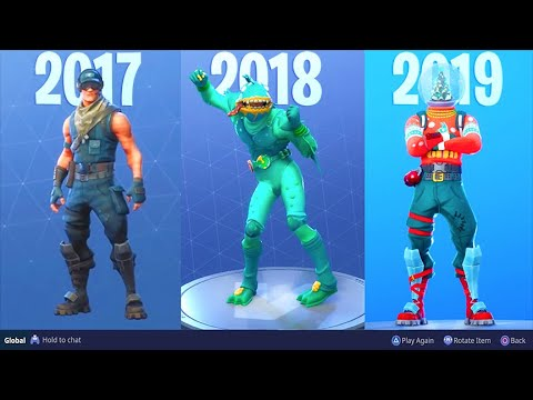 The Fortnite Item Shop EVOLUTION..! (2017-2019)