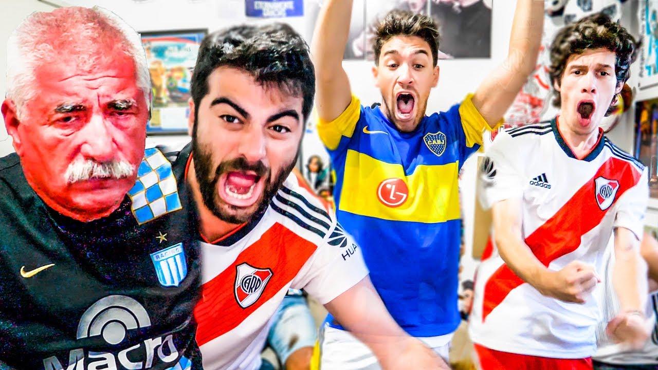 Reacciones de HIJO de RIVER y PADRE de RACING | Torneo Argentino 2019