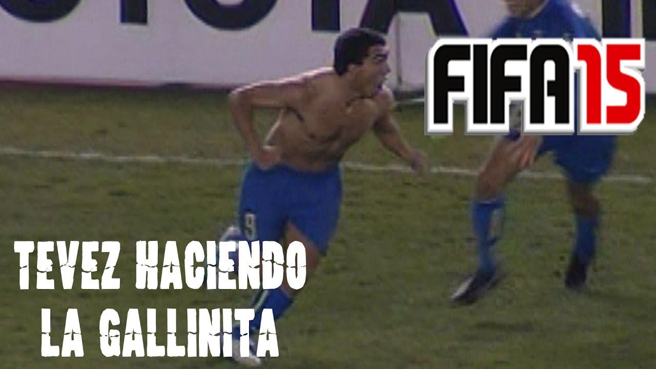 FIFA 15 Gol de Carlos Tevez (Festejo haciendo la gallina) PS4 - YouTube
