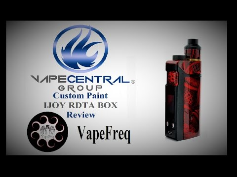 IJOY RDTA BOX Review ( Vape Central Group ) Custom Paint