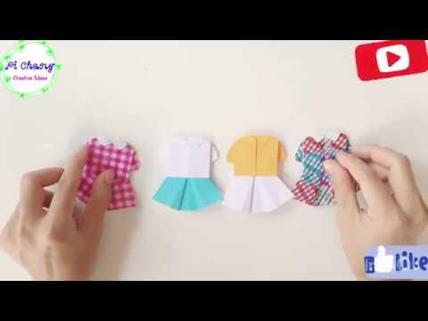 How to make a paper Blouse & Skirt? origami blouse & skirt | girls cute blouse & skirt