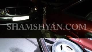 Երևանում բախվել են 2 Opel ու Mercedes  Opel ներից մեկն էլ մխրճվել է առևտրի տաղավարի մեջ