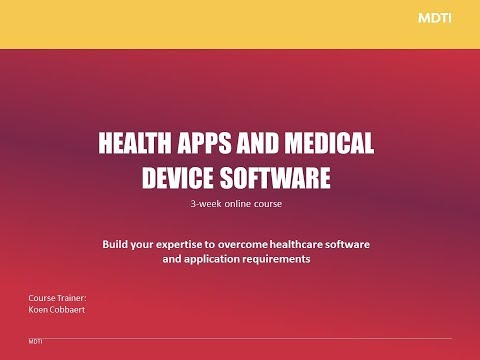 NEW: Health Apps and Medical Device Software Online Course with MDTI