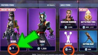 "FORTNITE ""NEW* FREE REVOLT REBEL ROBO SET, TARO NARA STORM SET, CHEER UP (fortnite Battle Royale)"