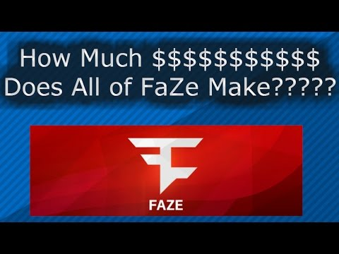 How Much $$$ Does Every Member of FaZe Make COMBINED????? 2016