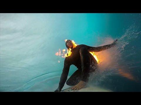 GoPro: Jamie O'Brien Surfs Teahupoʻo On Fire
