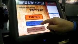 Radiant systems food ordering kiosk demonstration at nacstech 2009