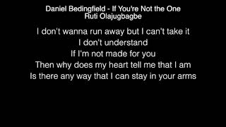 Ruti Olajugbagbe - If You're Not the One Lyrics (Daniel Bedingfield) The Voice UK Video