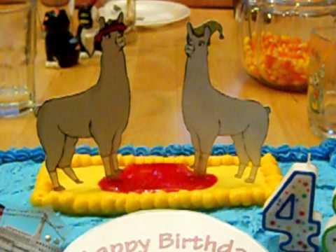 Llamas With Hats Birthday Cake