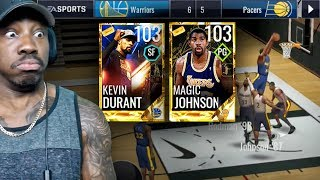 GOLDEN TICKET MAGIC JOHNSON DUNKING ON EVERYONE! NBA Live Mobile 18 Gameplay Pack Opening Ep. 67