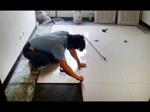 Как самому положить плитку на пол. Технология укладки большой плитки