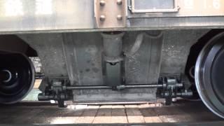 秩父鉄道 ヲキフ100形ヲキフ125号車 床板開閉シーンin広瀬川原車両基地