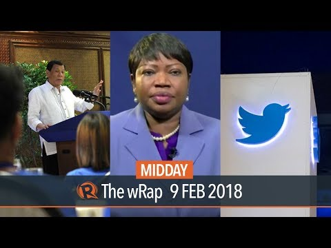 Duterte on dictatorship, ICC on war on drugs, Twitter records profits | Midday wRap