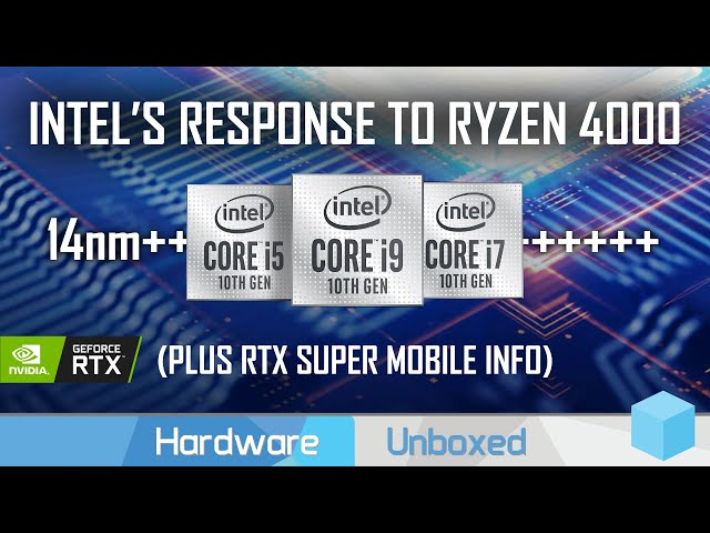 14nm Returns to Fight Ryzen Mobile 4000, Intel Comet Lake-H Info + Nvidia Super for Laptops