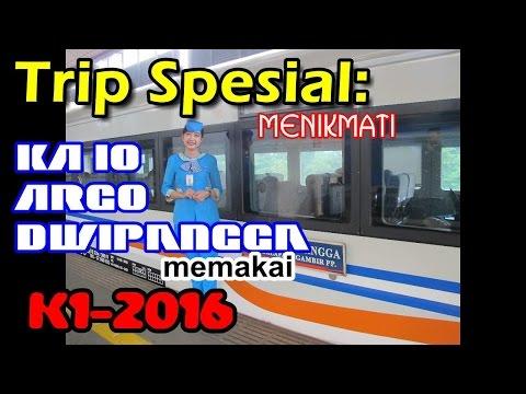 Naik Kereta Api Eksekutif Baru (Argo Dwipangga K1-2016)