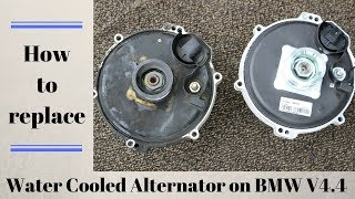 How to replace Water Cooled Alternator on BMW e39 540i and 740i models, m62tu engine