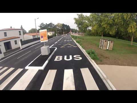 Couloir de bus temporel sur stationnement à Basse-Goulaine