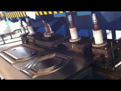 metal security door plate hinge and lock hole hydraulic punching press machine