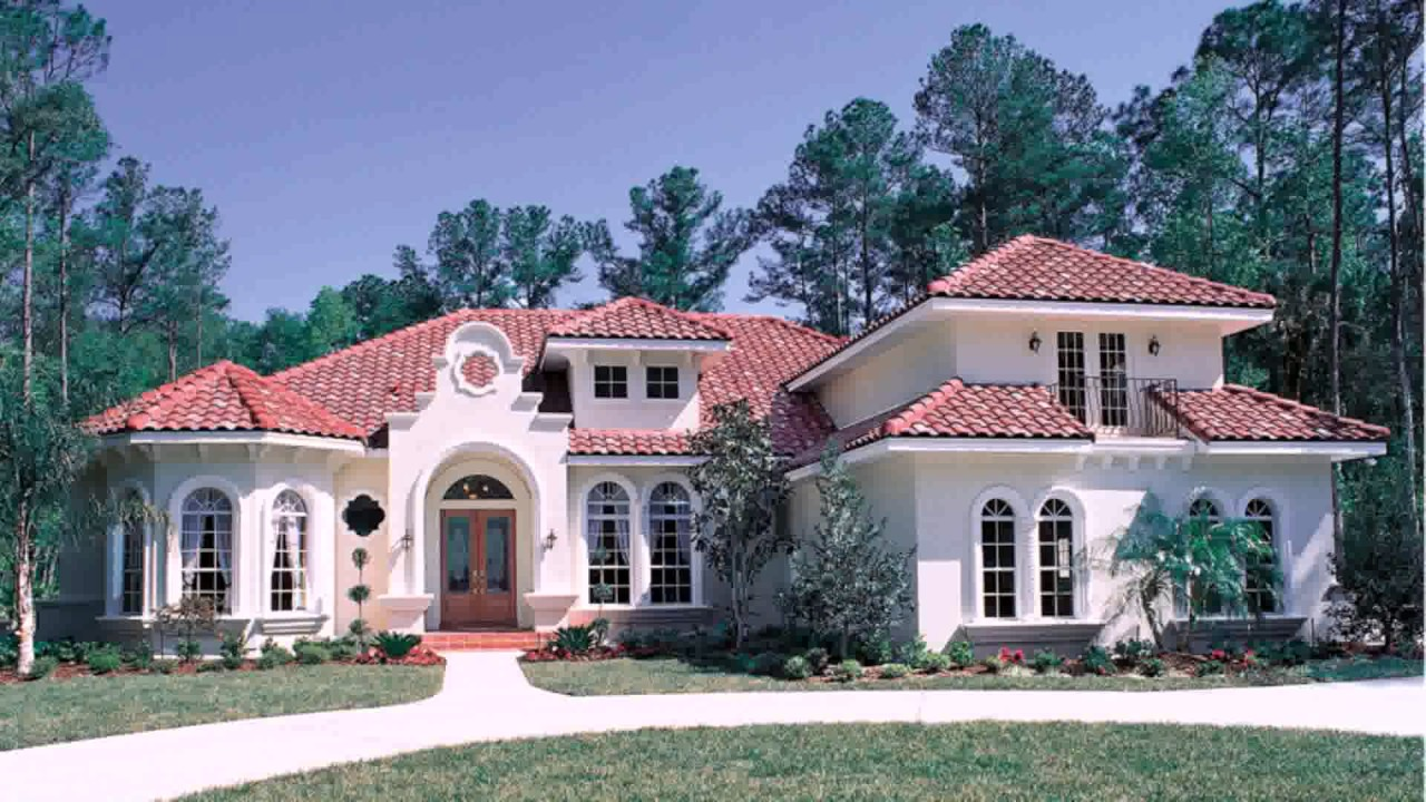Modern Spanish Style House Plans - YouTube