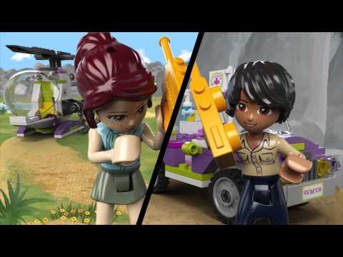 Конструктор LEGO Friends 41036 Джунгли: Спасательная операция на мосту