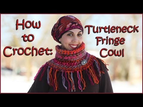 Turtleneck Fringe Cowl