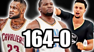 COULD THE LAST 10 MVPS TOGETHER GO 164-0? NBA 2K17 CHALLENGE