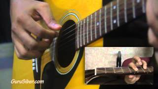 Learn Fingerstyle Guitar - Kau Ilhamku (Intro)