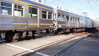 南海高野線 北野田駅6000系(6003+  6915+6015編成) 回送通過