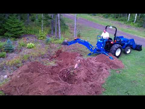 LS G3033H tractor with an LB1100 Backhoe #2
