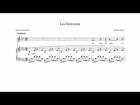 Les berceaux - Fauré -  accompaniment in Bb minor