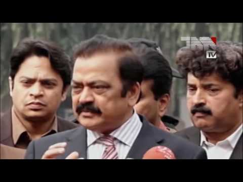 06 Lahore  Law Minister of Punjab Rana Sanaullah Media Talk