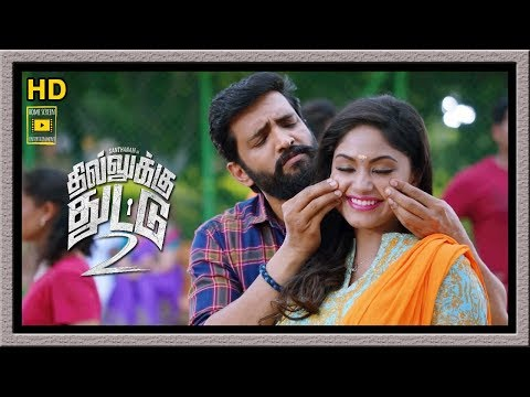 Dhilluku Dhuddu 2 Full Movie | Santhanam Duet With Shritha Sivadas | Santhanam Love Scenes