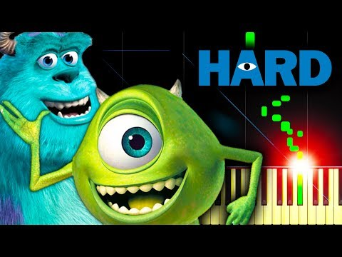 MONSTERS INC. THEME - Piano Tutorial