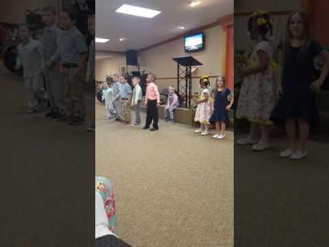 Little kids Sunday school Easter song