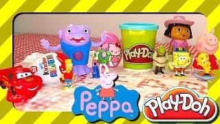 Learn To Write In Shaving Foam: Play Doh Hello Kitty Dora Peppa Pig Cars Frozen Bart Simpson