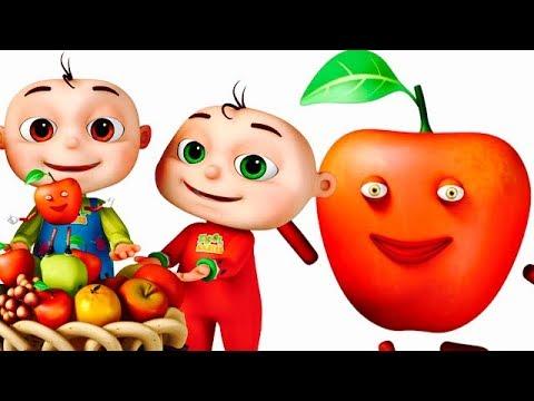 Apple Song  Learning Fruits For Kids  Original Song  Nursery  & Ba Songs  gyan 3d Rhymes