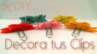 DIY: decora tus clips / decorate your clips ♥ Thumbnail