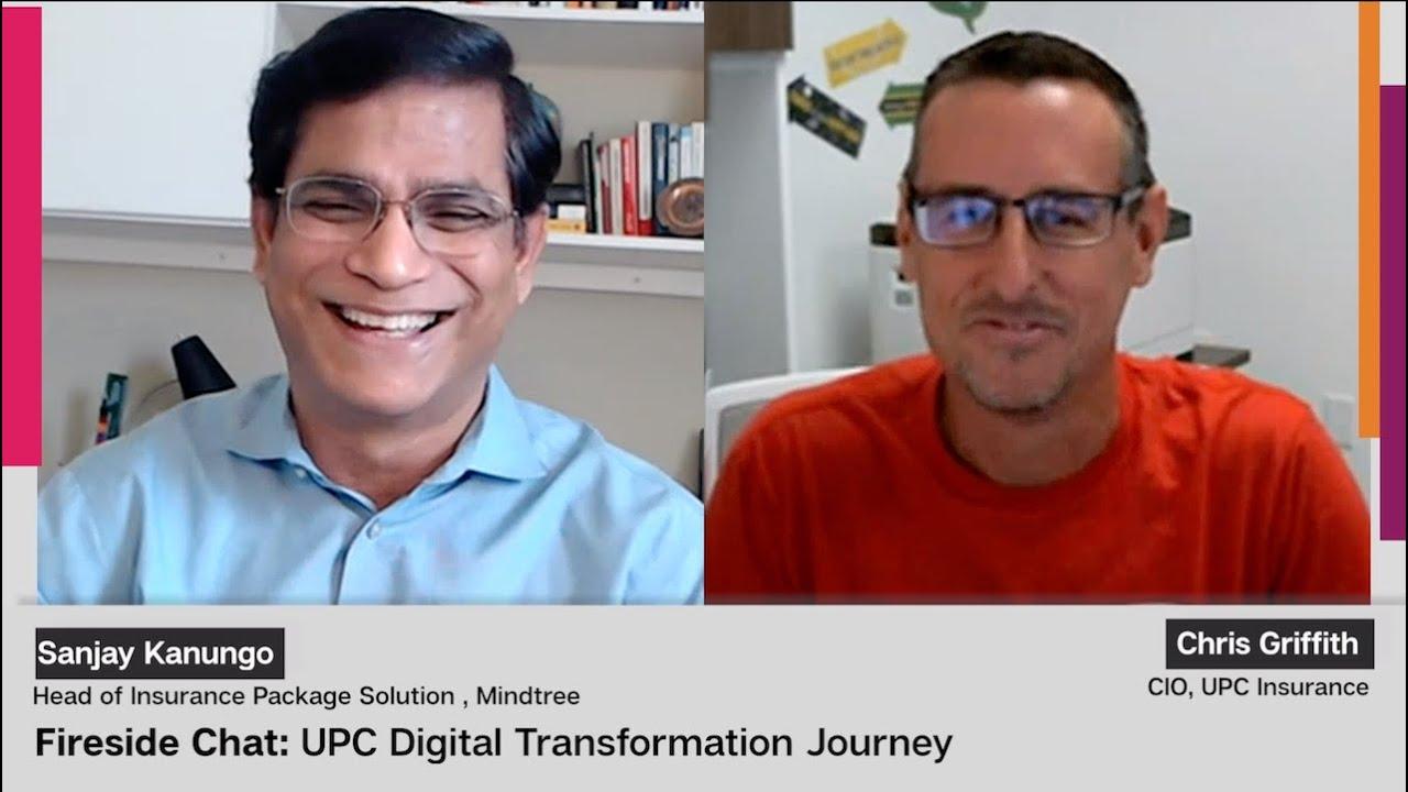 Mindtree Fireside Chat Upc Insurance Digital Transformation Journey Youtube