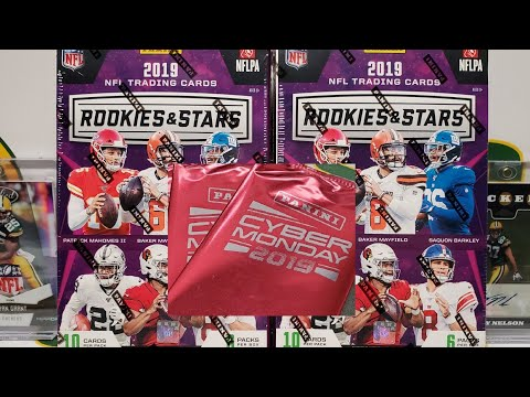 2019 Rookies & Stars 2 Hobby Box Opening + Cyber Monday Packs!