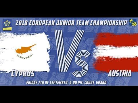 Cyprus vs Austria - Day 1 - 2018 European Jnr. Team C'ships